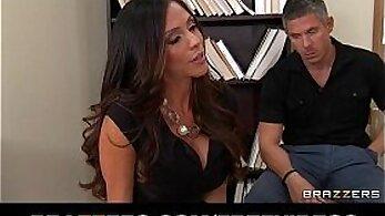 Busty latina teacher Nina Jordan rides on her clients dick like pro