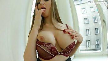 Busty DP anal porn spunking
