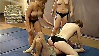 sexy wrestling girls get fucked by hard ringers