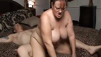 Chubby mature sub gets a huge facial and her mouth fills it with cum