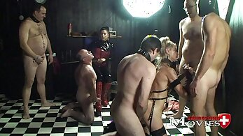 Horny bdsm domina getting dirty with her slave