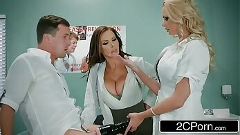 Sexy Brandi Clit Nurse Eden Crouz Gets a Threesome From Outta Control
