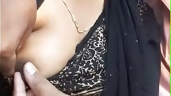 Aunty with face attached gets nipples plugged