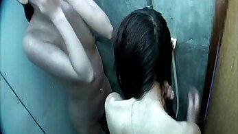 Hidden cam in toilet and dirty girl shower