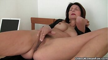 Chesty Mom Louise Clark knows how to get nice pussy filled on the boat