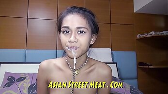 Buxom perverted Indian spit roasted in missionary pose