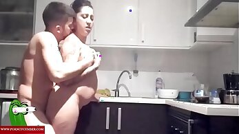 Angry Mother loves the fuck in the kitchen