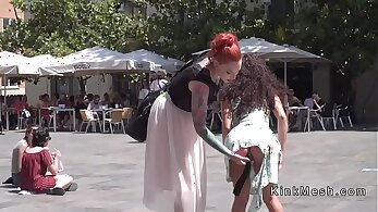 Attractive darling called Petite Rachel prefers anal fuck in the public places