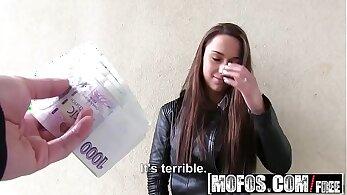 Victoria got a euro boobs alone in public