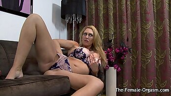 Cute and valentine milf masturbating and orgasming her tight pussy