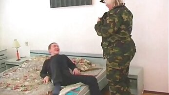 Chubby mature blonde fucks young guy then pussylicked outdoor