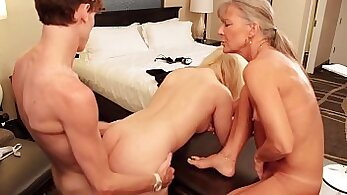 Bosses sister getting fucked with her step dads friend while mother