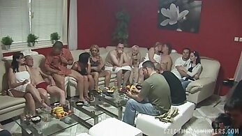 little movie of a mature fuck party with real cocks