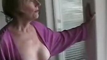 College red haired mom sucks on cock part