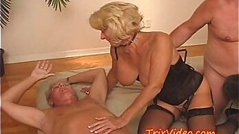 Ashley Hollywood and her stepmom involved in dirty orgy