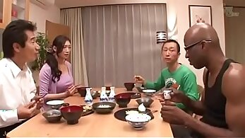 Attractive Japanese wife in nice lesbo fuck session