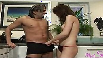 Alex Gets Her Gigolo Cock Fucked In The Kitchen
