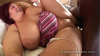 Big tits BBW Amateur and she likes ebony cock