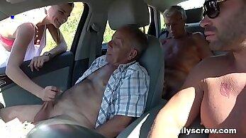 Big tits slut fucked him by her son